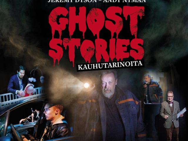 Ghost Stories -näytelmän juliste, jonka saa ostaa mukaan Teatterilta kotiinviemisiksi.