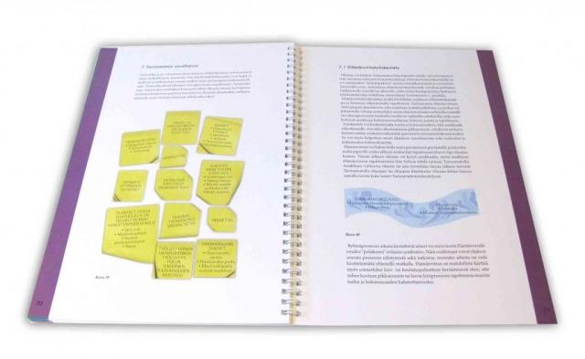 Infografiikkaa kirjan taitto